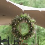 Blooming air plants decorate this dream catcher at The Music Camp - Photo by Ginia Worrell Photography