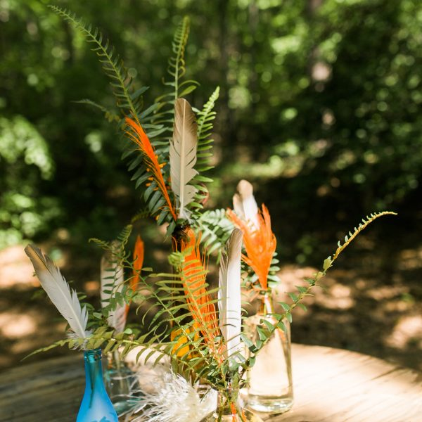 Feathers, Ferns, and Bottles