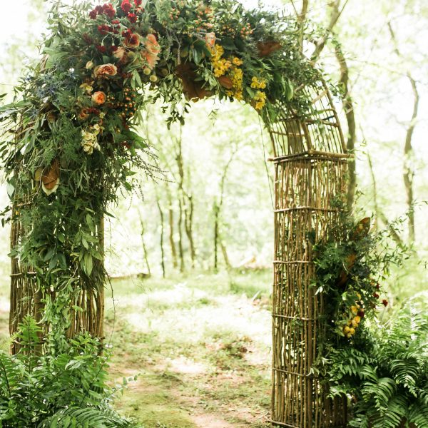 Grapevine Arch with floral by Renee Boroughs Designs - Photo by Ginia Worrell Photography
